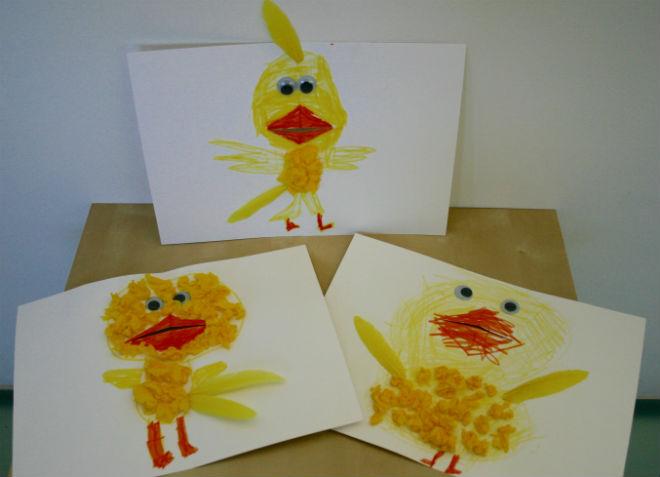 manualidad infantil cuento el pollo pepe