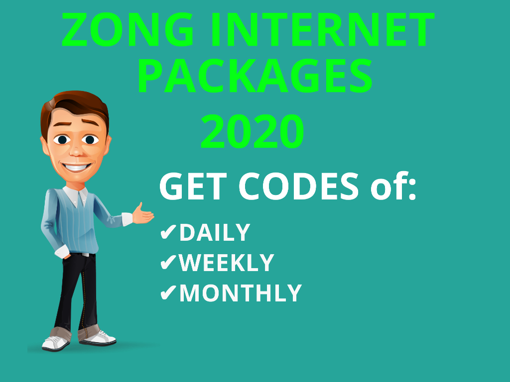 Get Zong Net Package  Daily Zong Social Package Monthly Zong Weekly Data Package Zong Monthly Net Packages Whatsapp Facebook Imo Package Code free 4G Data packs