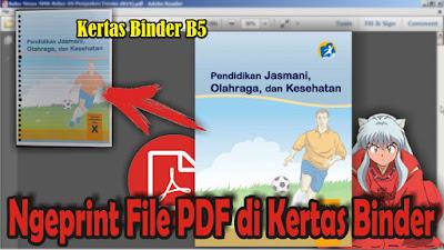 Cara Print File PDF di Kertas Binder B5 Bergaris