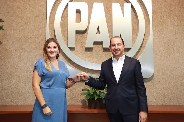 Cecilia Patrón en fórmula con Marko Cortés para dirigir el PAN