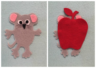 Colors Storytime, Colors flannel board activity, little mouse, mouse house