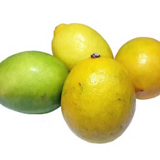 Yellow and Green Lemon, Vitamin, Sour, Juicy, Macro