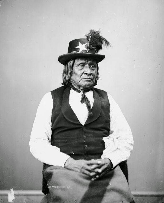 Chefe Comanche Silver Knife - (1872)