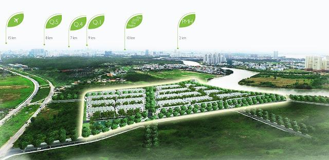 Nine South Estates senior Villa area between Saigon South Center