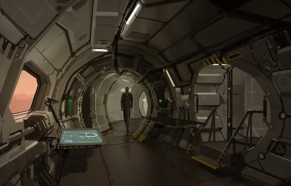 Mars base interior by Romek Delimata