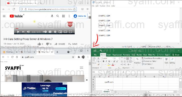 Cara Membuka 2 Window Sekaligus di Windows 10