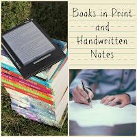 Books in Print and Handwritten Notes on Homeschool Coffee Break @ kympossibleblog.blogspot.com