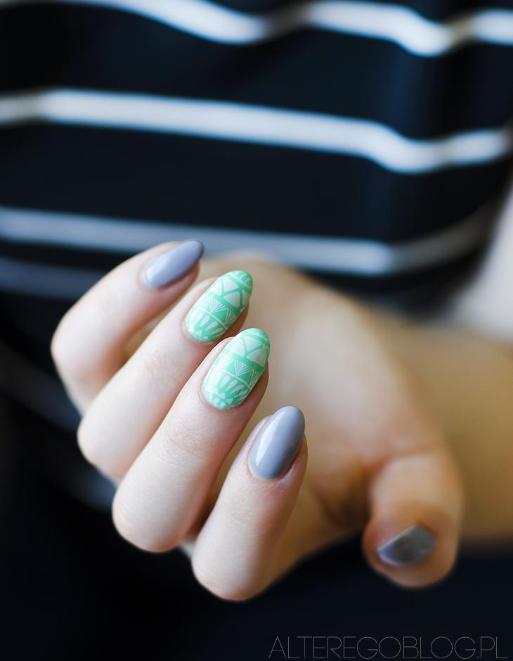 semilac, paznokcie hybrydowe, semilac bright emerald, semilac 048, semilac 141, semilac lady in grey,