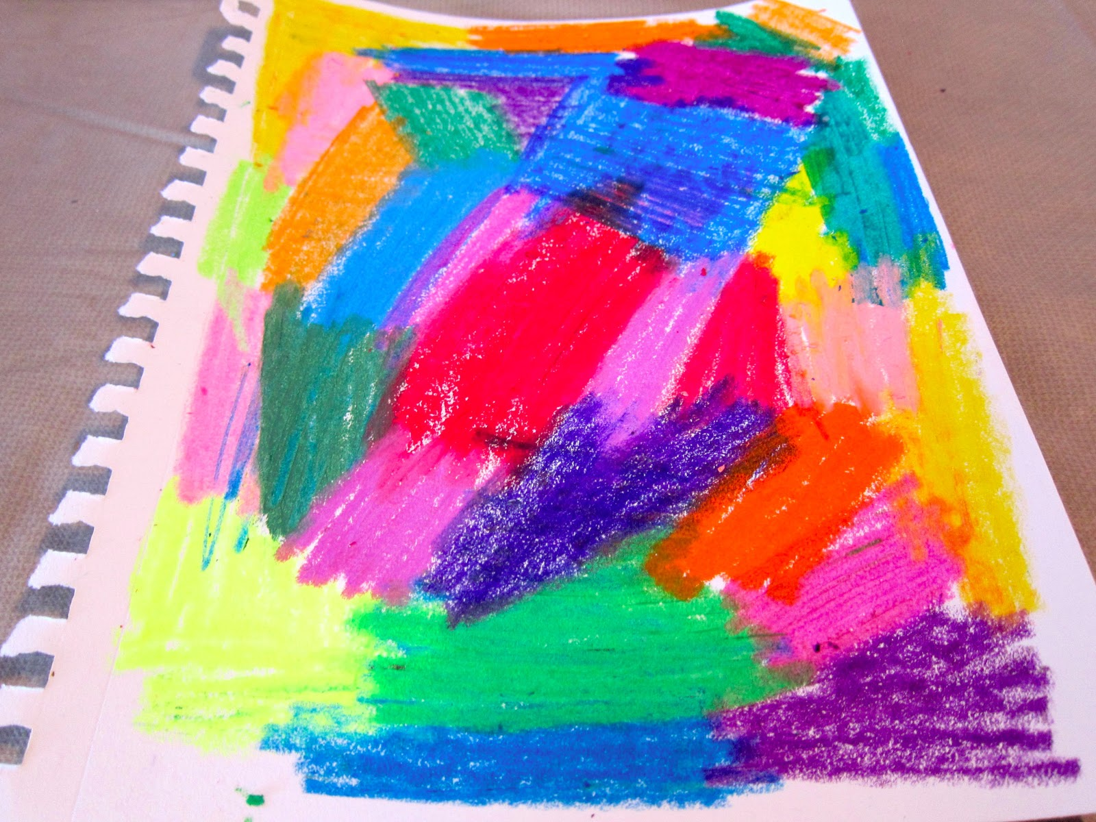 Crayon Transfer Technique at Artists