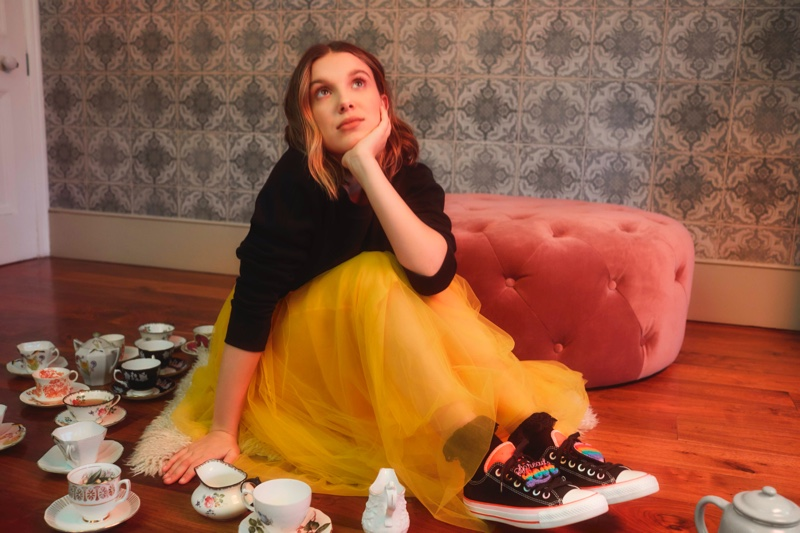 Millie Bobby Brown links up with Converse for her second sneaker collaboration