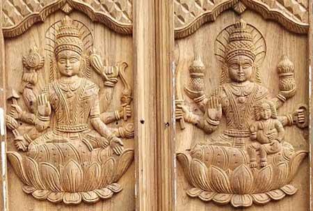 Dwara Lakshmi On Top Of Door In Hindu Temples – Goddess Lakshmi Form