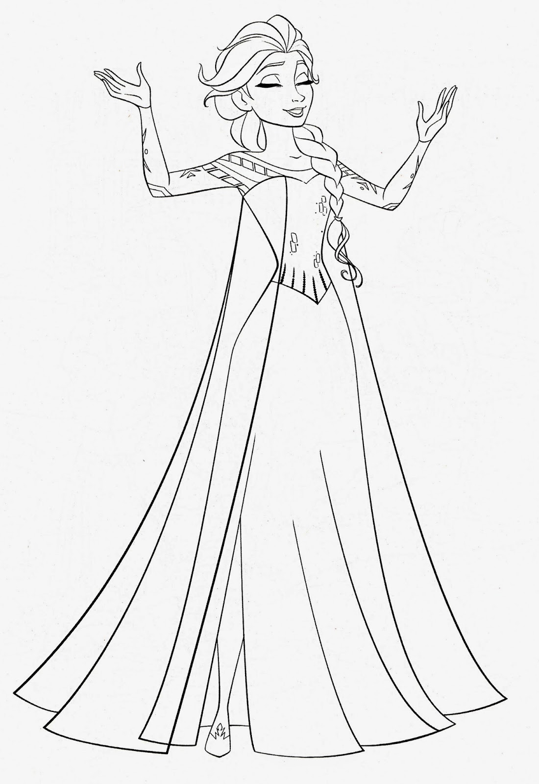 Disney Movie Princesses Frozen Printable Coloring Pages