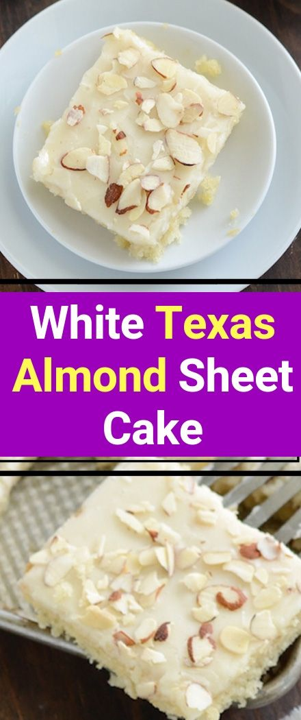 White Texas Almond Sheet Cake