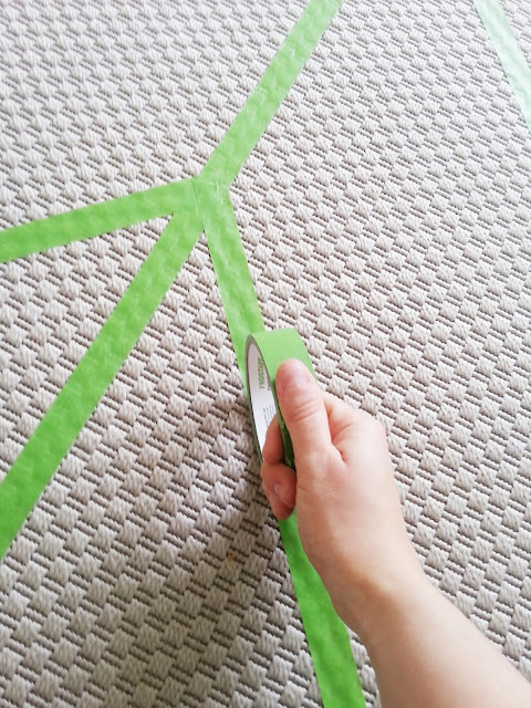 diy painted herringbone rug