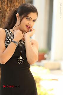 Actress Poojitha Pallavi Naidu Stills in Black Short Dress at Inkenti Nuvve Cheppu Movie Platinum Disc Function  0097.JPG