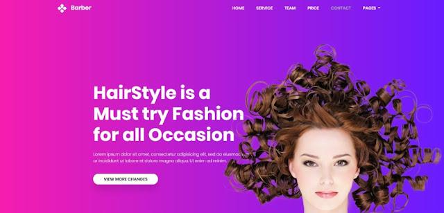 Barber's excellent Image slider Website Template
