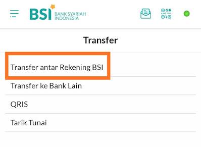Transfer sesama BSI