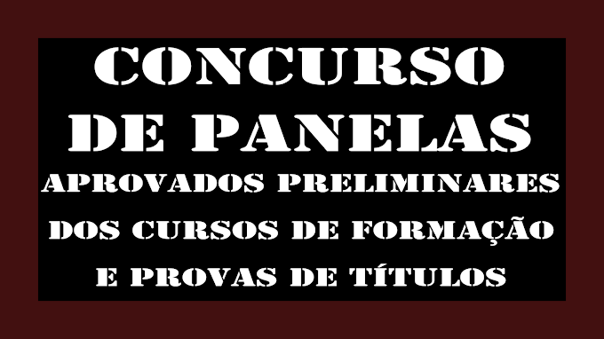 CONCURSO DE PANELAS - APROVADOS PRELIMINARES