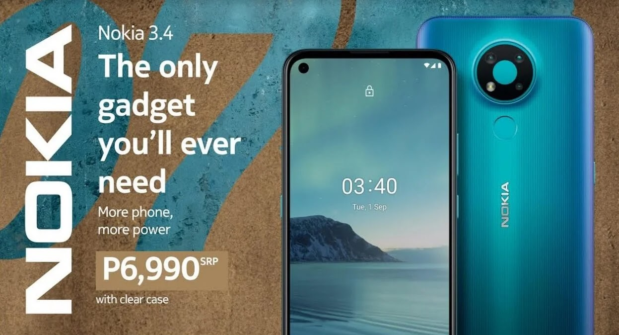 PRICE DROP ALERT: Nokia 3.4 Now Only Php6,990 (from Php7,990)