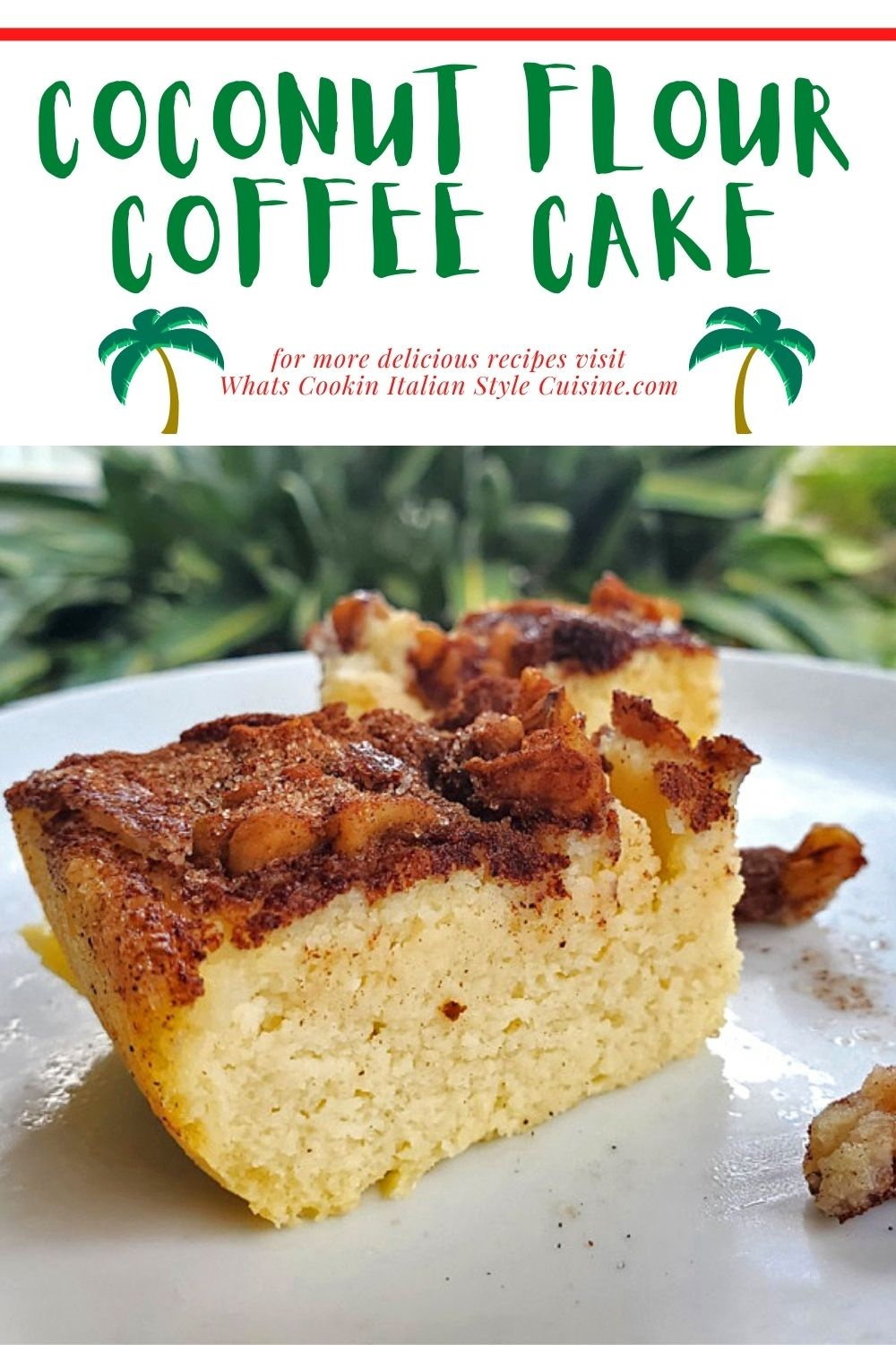 this is a pin for later on how to make a coffee cake using coconut flour