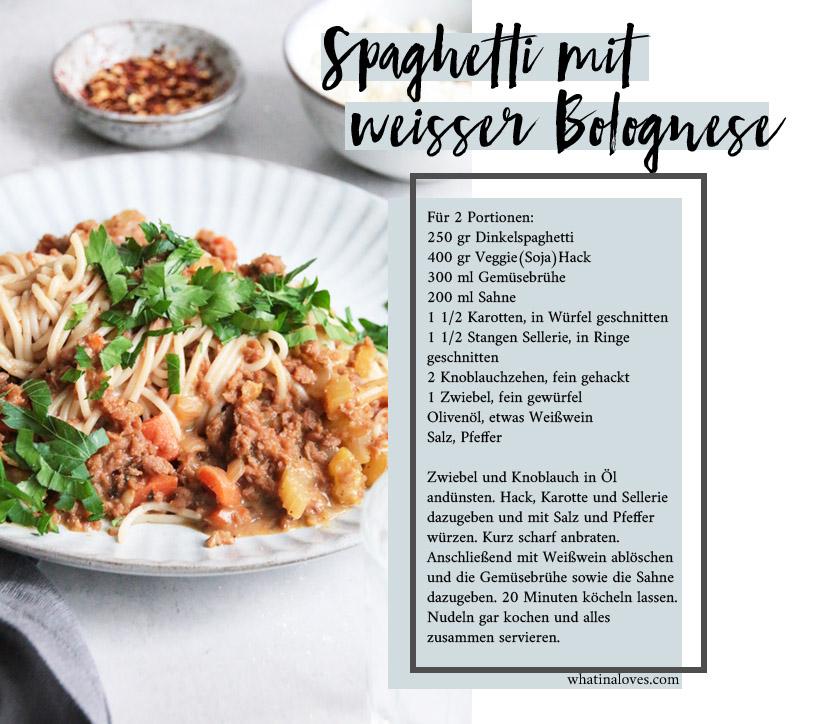 vegetarische weiße Bolognese