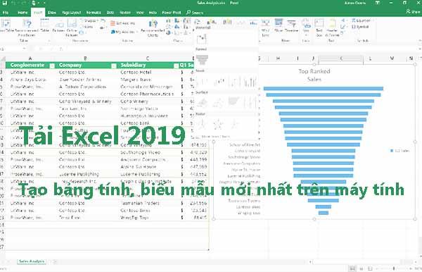 Tải Excel 2019 - Phần mềm tạo bảng tính mới nhất trên máy tính b
