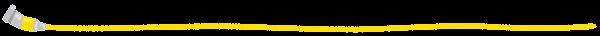 絵の具のライン素材(黄色)