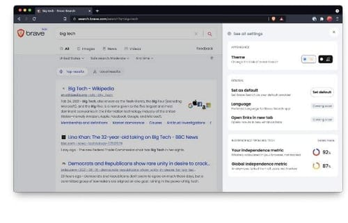 Brave Search .. the privacy-focused alternative to Google