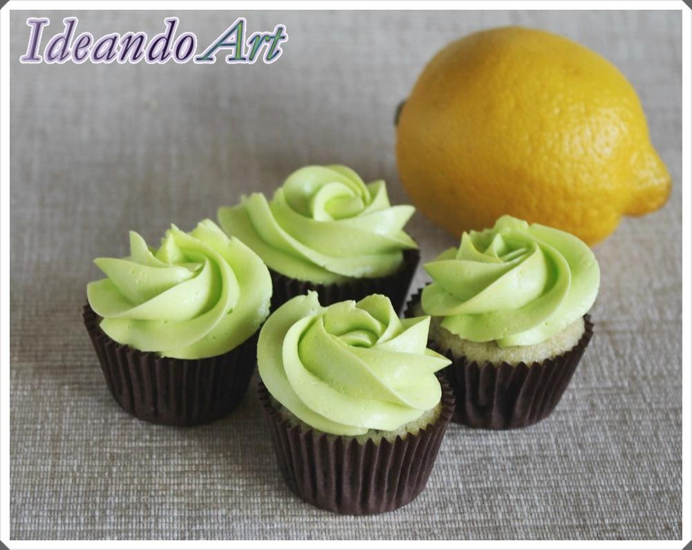 Cupcakes de mojito con buttercream
