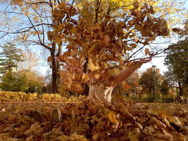 Zlatý teplý podzim v Moskvě