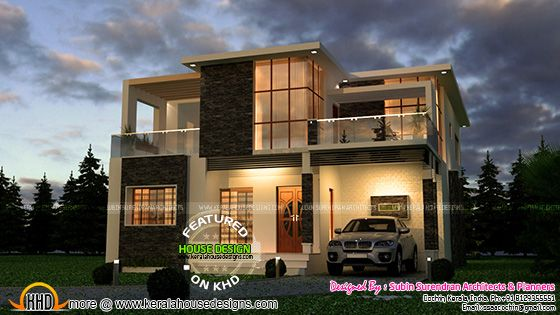 Very attractive modern house in Kerala