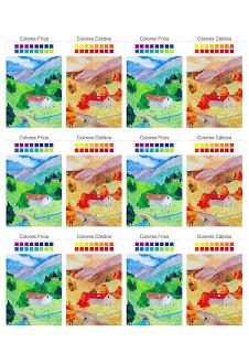 colores calidos y frios para imprimir