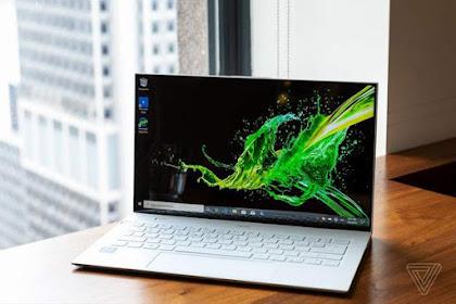 Acer Swift 7, Laptop 13,3 Inci Tertipis Dengan Ketebalan Kurang Dari 1 Centimeter