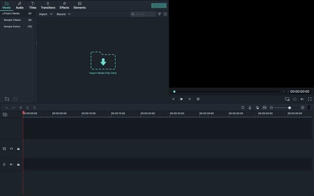filmora 9 interface