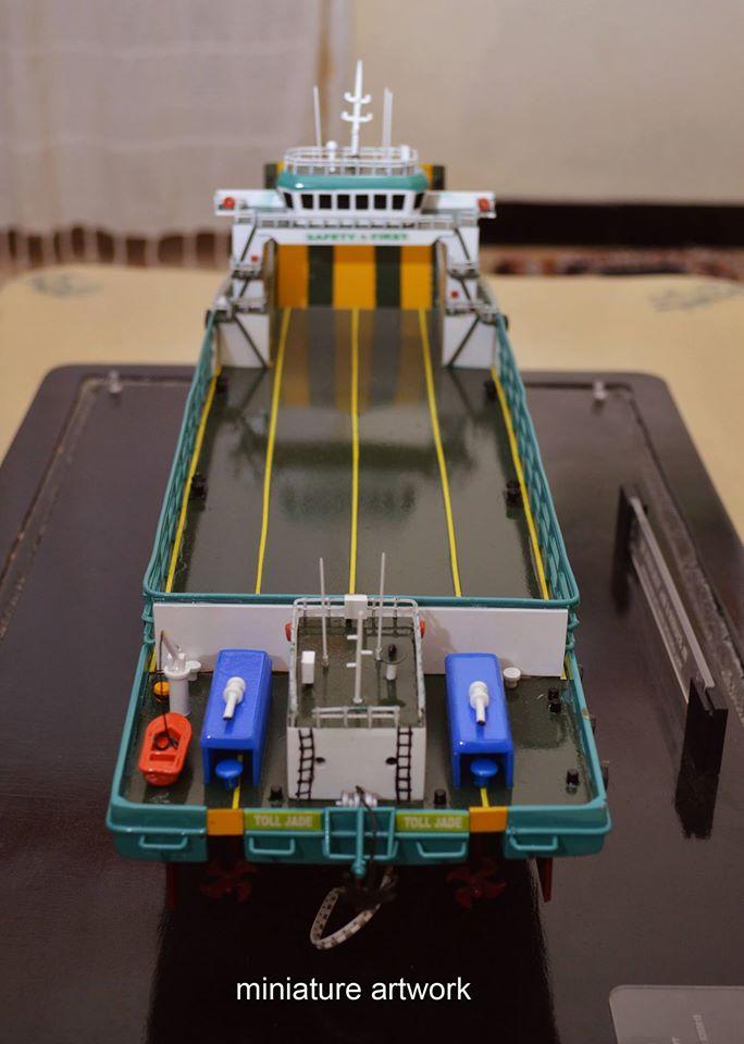 produsen miniatur kapal lct toll jade general cargo ship milik perusahaan toll logistic asia ltd singapura rumpun artwork temanggung