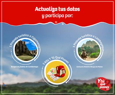 Gana un paquete turístico a Lambayeque o Cajamarca