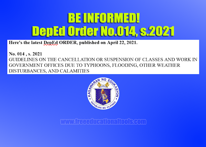 GUIDELINES ON THE CANCELLATION OR SUSPENSION OF CLASSES AND WORK IN GOVERNMENT OFFICES DUE TO TYPHOONS, FLOODING, OTHER WEATHER DISTURBANCES, AND CALAMITIES