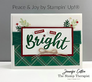 This card uses Stampin' Up!®'s Peace & Joy Bundle.  #StampinUp #StampTherapist