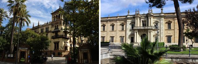 Hotel Alfonso XIII (izda.) y Real Fábrica de Tabacos (dcha.)