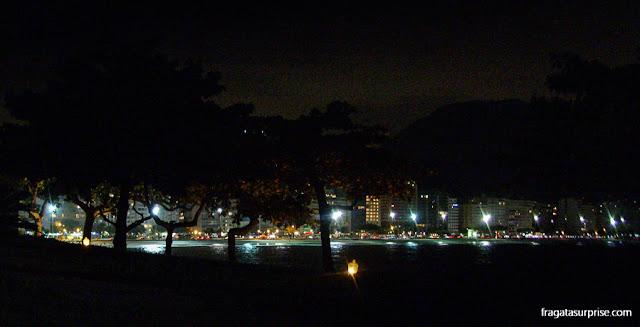 Luzes de Copacabana vistas do Forte de Copacabana