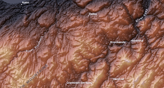 Playing around with shaded relief maps