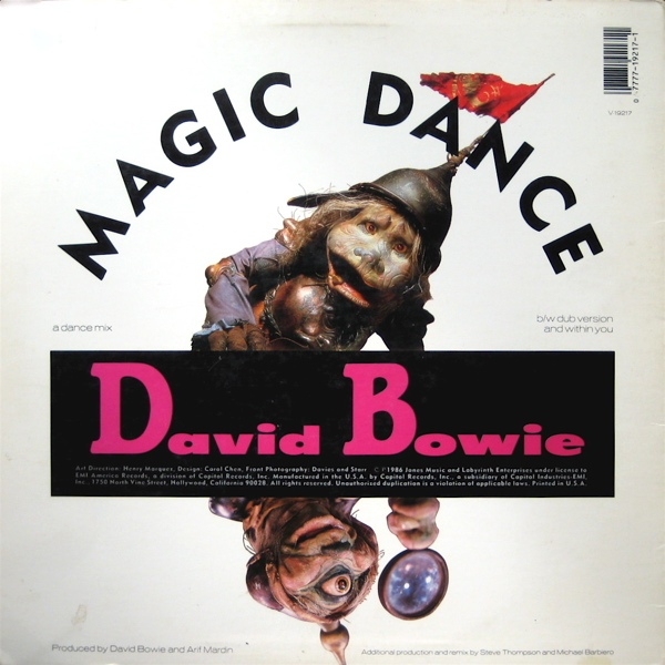 MUSIC REWIND: David Bowie - Magic Dance (A Dance Mix) 12 ...