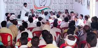 कांग्रेस कार्यकर्ता निकालेंगे भाजपा गद्दी छोड़ो मार्च  | #NayaSaberaNetwork