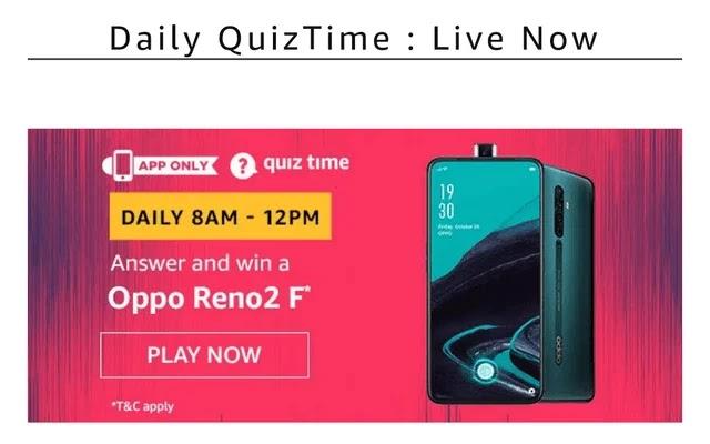 Amazon oppo Reno 2 quiz, Amazon oppo Reno 2 f quiz