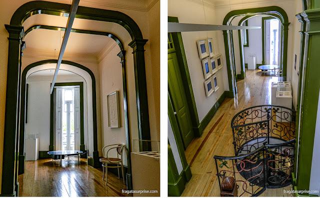 O interior da Casa do major Pessoa, hoje Museu da Arte Nova de Aveiro