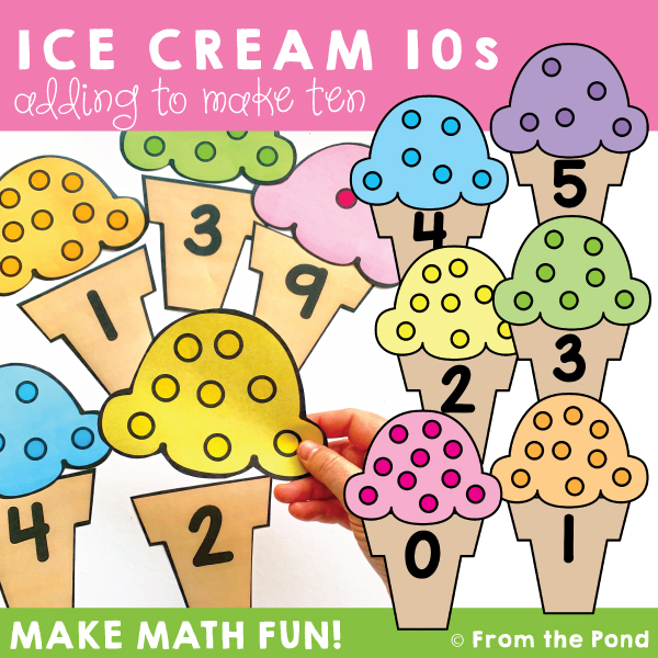 Ways to make ten math game