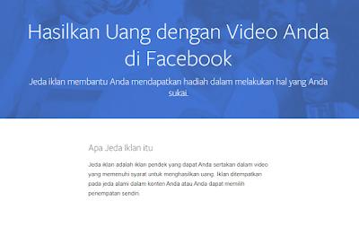 Cara Mendapatkan Uang Dari Facebook Dengan Ads Break