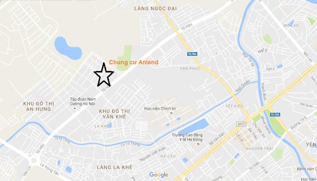 Vị trí chung cư Anland Nam Cường.