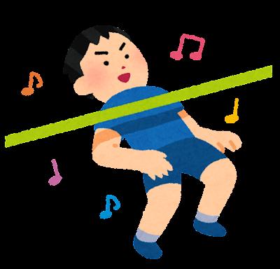 リンボーダンスのイラスト(男性)
