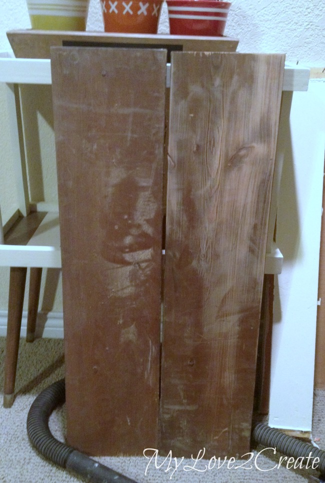 MyLove2Create, Hall Closet Makeover, reclaimed wood for bench seat